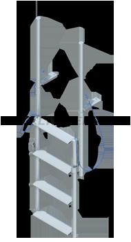 Finger Pier Lift Ladders - Wide Steps
