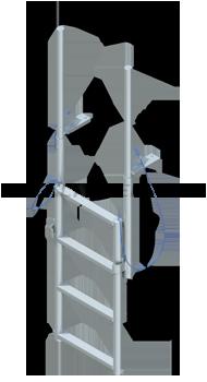 Finger Pier Lift Ladders - Standard Steps