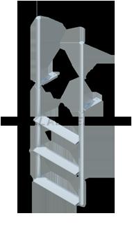 Finger Pier Straight Dock Ladders - Wide Steps