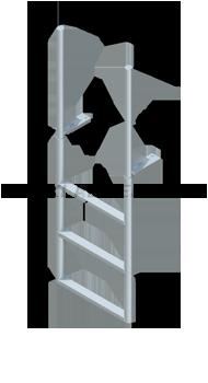 Finger Pier Straight Dock Ladders - Standard Steps