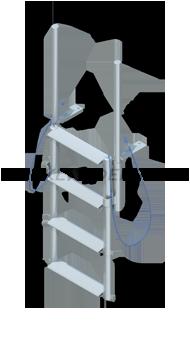 Floating Dock Finger Pier Lift Ladders - Wide Steps
