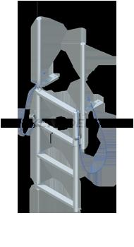 Floating Dock Finger Pier Lift Ladders - Standard Steps