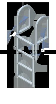 Floating Dock Lift Ladder - Standard Steps