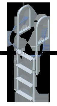 Lift Dock Ladders - Wide Steps
