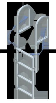 Lift Dock Ladders - Standard Steps