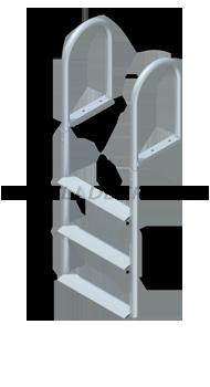 Straight Dock Ladders - Wide Steps