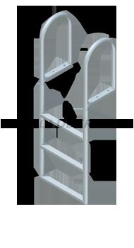 Straight Dock Ladders - Standard Steps